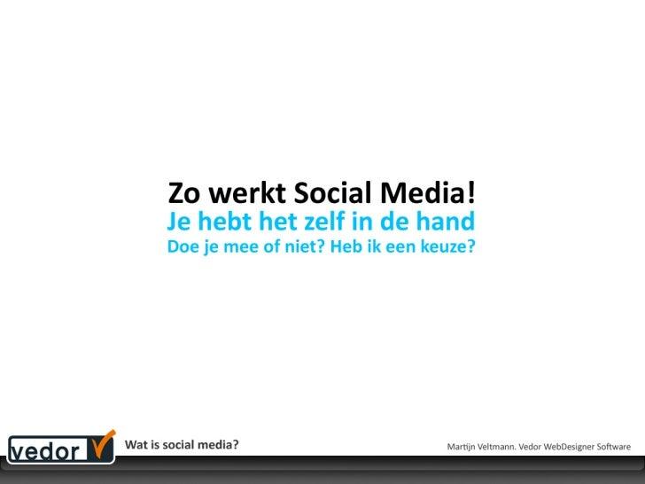 Socialmedia consument