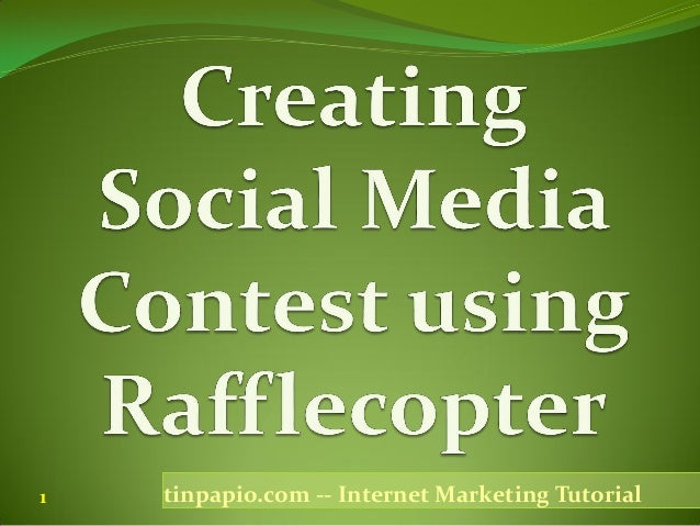 Social media contest using rafflecopter-Internet Marketing Tutorial by Tin…