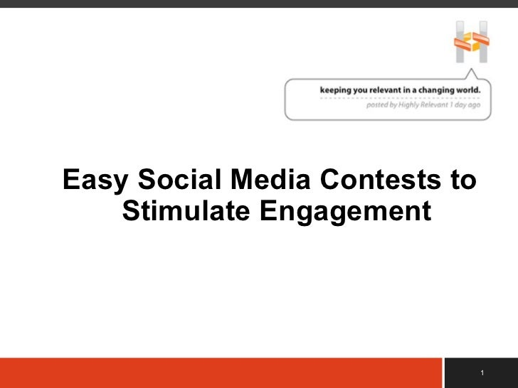  Easy Social Media Contests to Stimulate Engagement