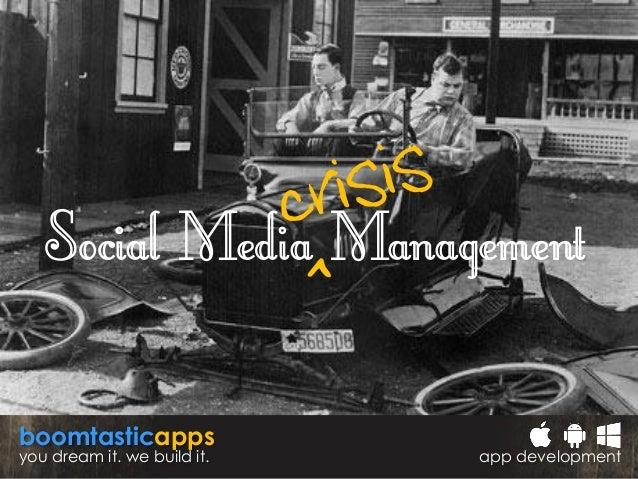 Social Media ^crisis Management