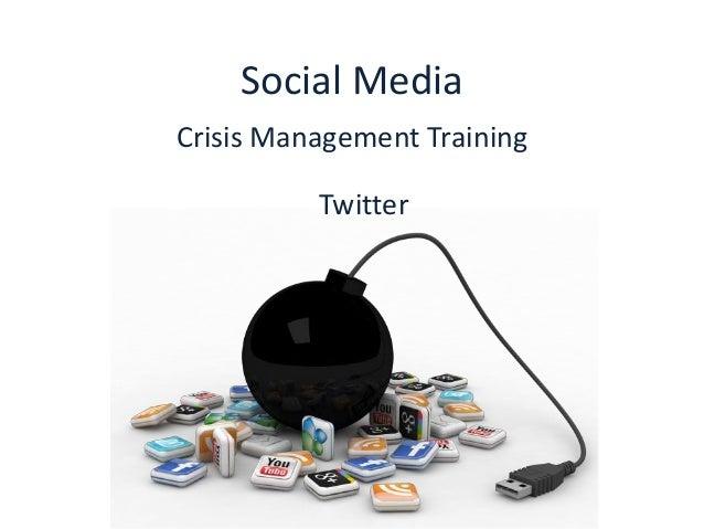 Social media crisis management training: Twitter