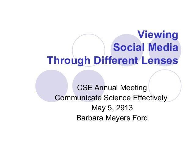 Social media cse 2013 annual meeting