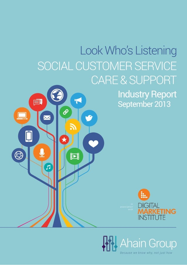 Ahain Group Social Business Research, Analysis & Insight Look Who's Listening SOCIAL CUSTOMER SERVICE, CARE AND SUPPORT In...