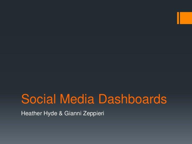 Social Media DashboardsHeather Hyde & Gianni Zeppieri