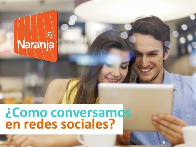 ¿Como conversamos en redes sociales?