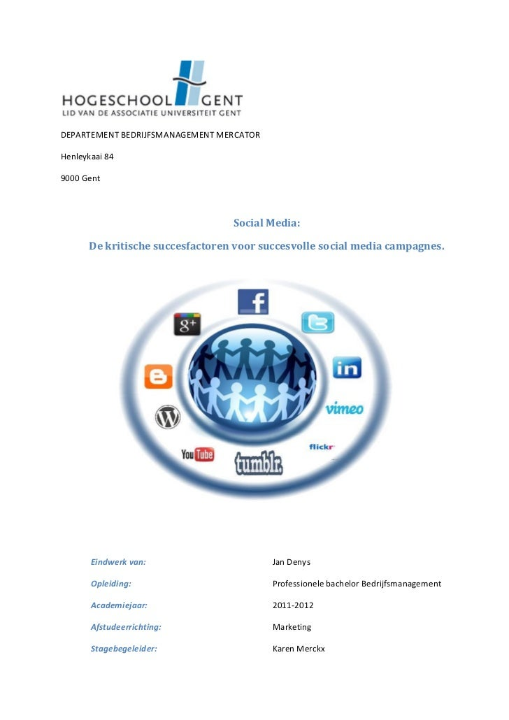 DEPARTEMENT BEDRIJFSMANAGEMENT MERCATORHenleykaai 849000 Gent                                 Social Media:      De kritis...