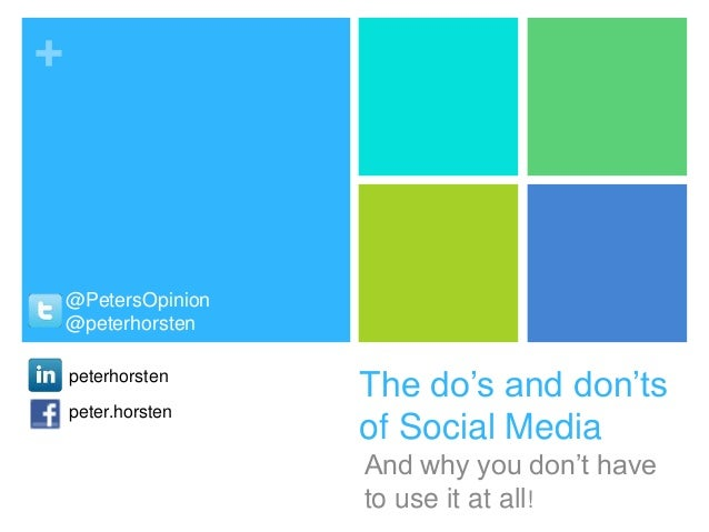 Social media do's and dont's