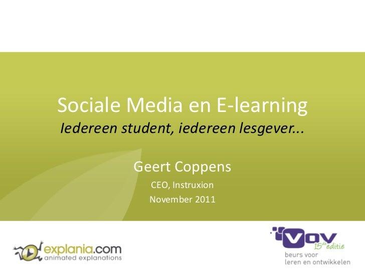 Social Media & E-learning - VOV 2011 - slideshare versie