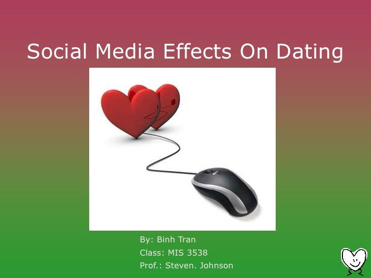 social effects of online dating Social demography of internet dating 1  find that socioeconomic and demographic factors have strong effects on the  dating what social and demographic .