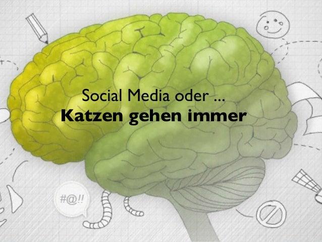 Social Media oder ...Katzen gehen immer                          © 2003 - 2013 joergfriedrich.eu