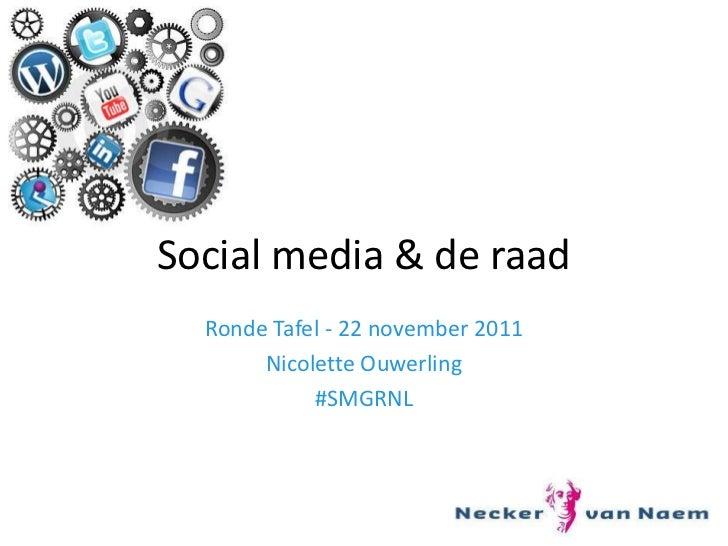 Social media en de raad