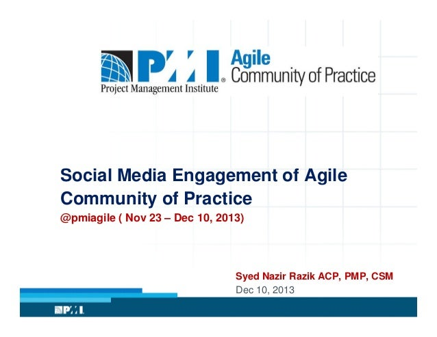 Social Media Engagement of Agile Community of practice