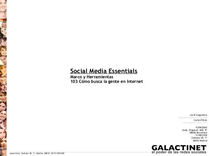 Social Media Essentials                                                           Marco y Herramientas                    ...