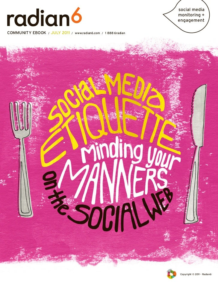 Social Media Etiquette Minding Your Manners On The Web