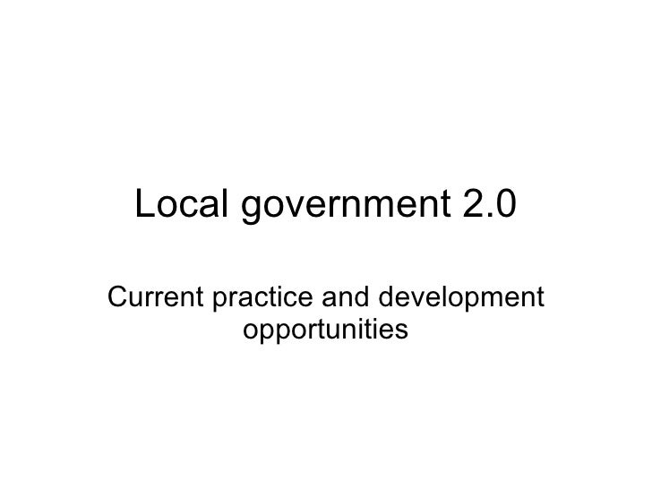 Social media in Local Government a few examples - and ways ahead