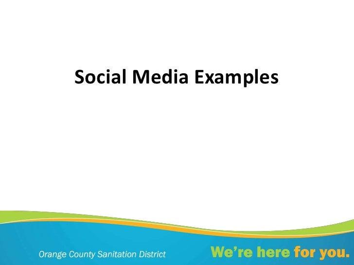 Social media examples (1)