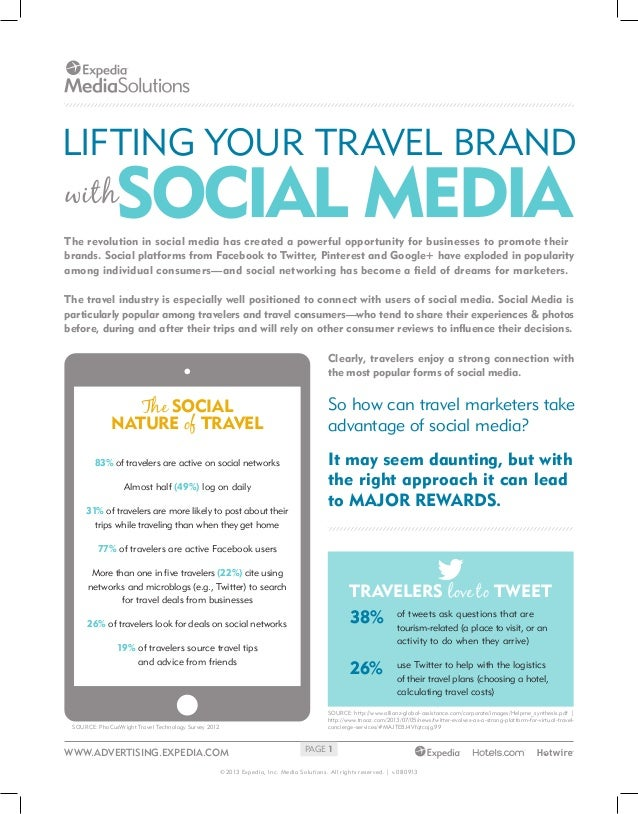 LIFTING YOUR TRAVEL BRAND  SOCIAL MEDIA  with  The revolution in social media has created a powerful opportunity for busin...