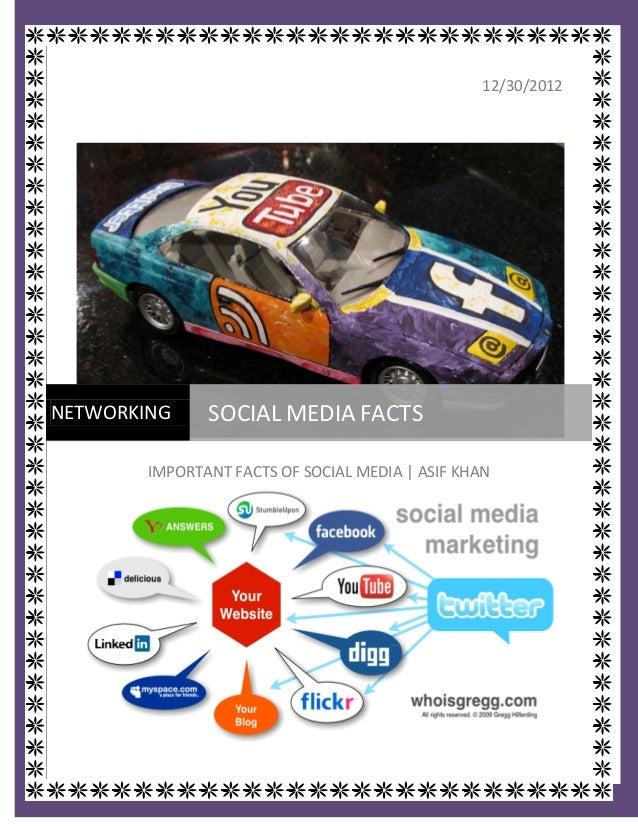 12/30/2012NETWORKING                   SOCIAL MEDIA FACTS                 IMPORTANT FACTS OF SOCIAL MEDIA | ASIF KHAN  htt...