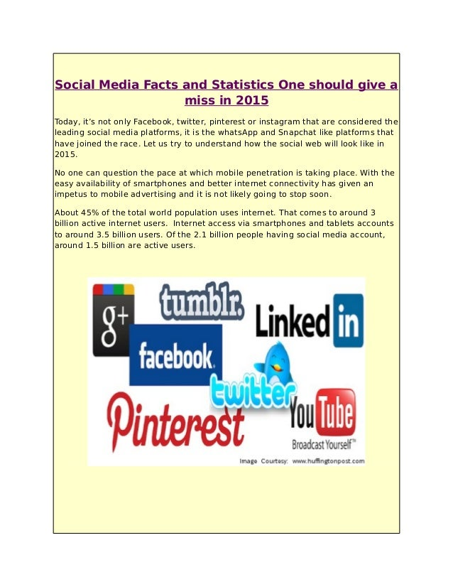 Media Facts 2015 Miss in 2015 Social Media