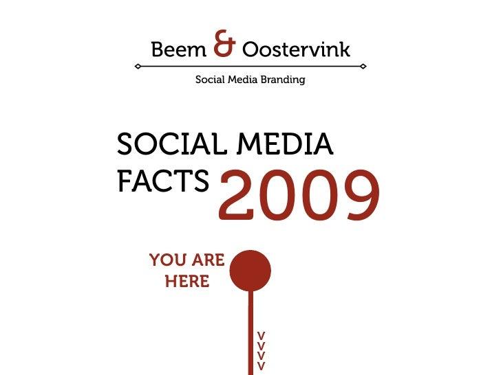 SOCIAL MEDIA FACTS        2009  YOU ARE   HERE              V            V            V            V