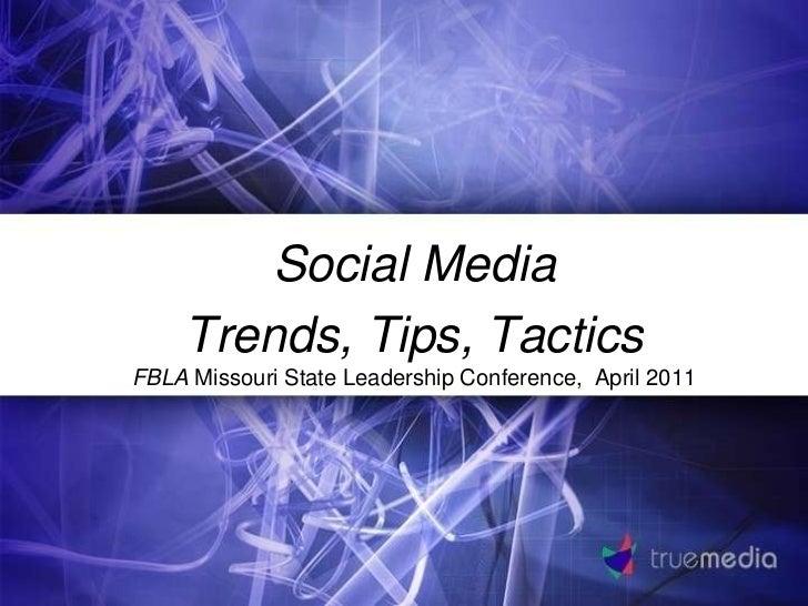 Social media FBLA presentation