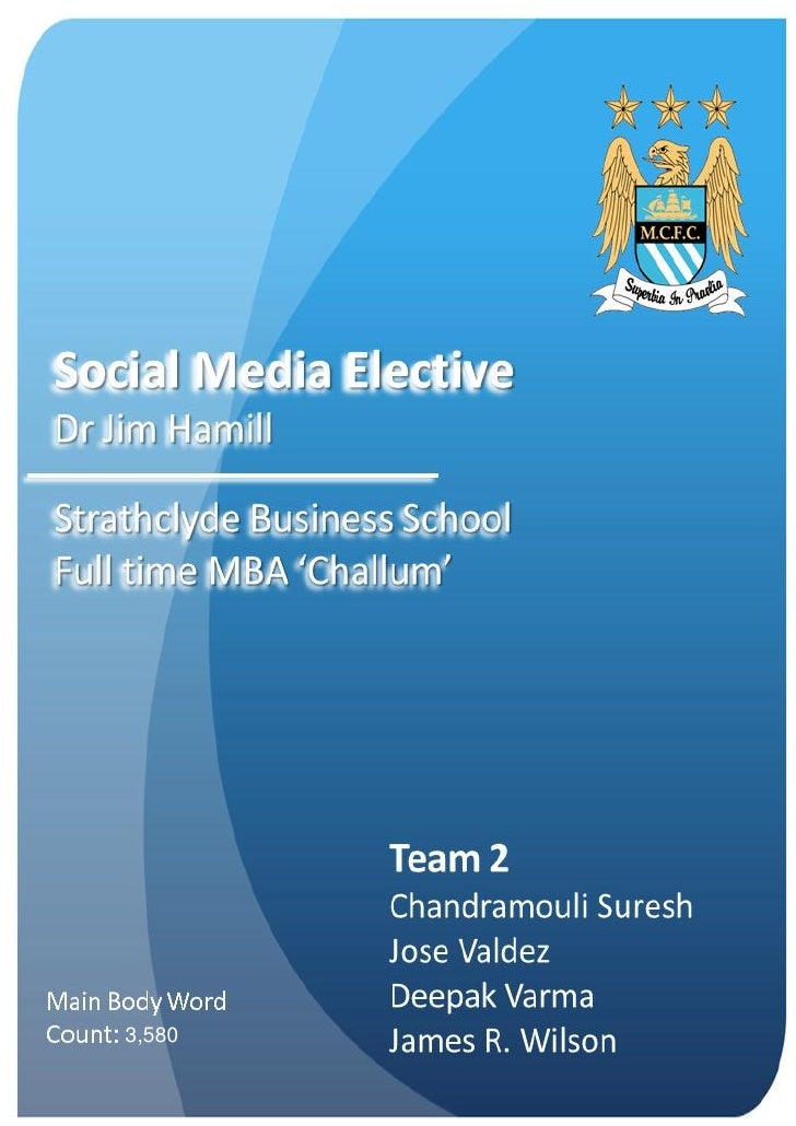 Social media Analysis of Manchester City football club