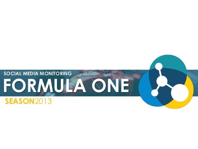 Formula One Season 2013 - Social Media Monitoring