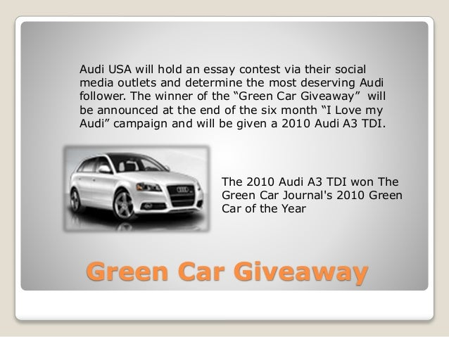 essay contest to win a car Home raffles, essay contests remain a to unload your home by selling raffle tickets or starting an essay contest should keep in their car to be show.