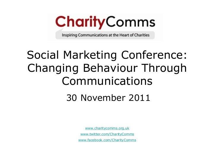 Social media for behaviour change
