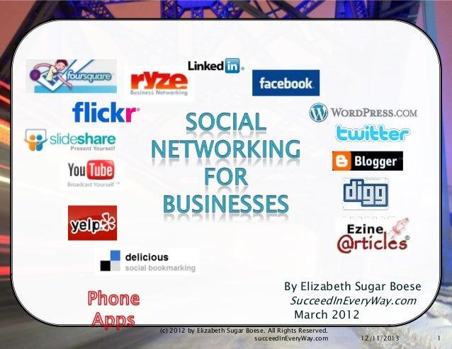 Social media for business 2012 Part 1