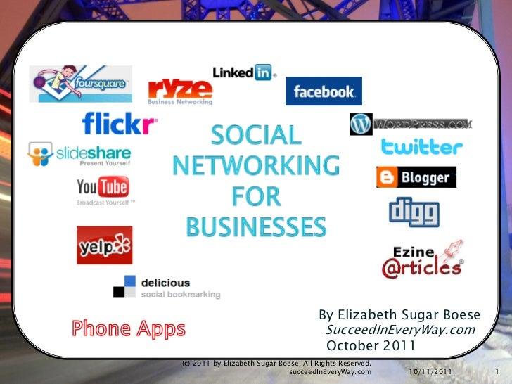Social Media For Business Part 1