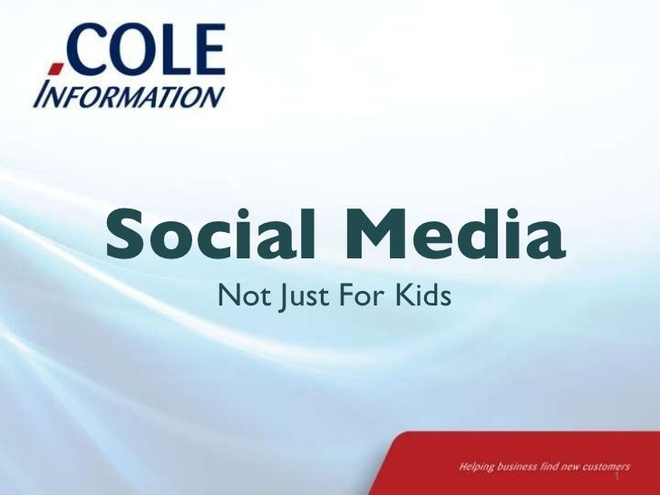 Social Media Not Just For Kids