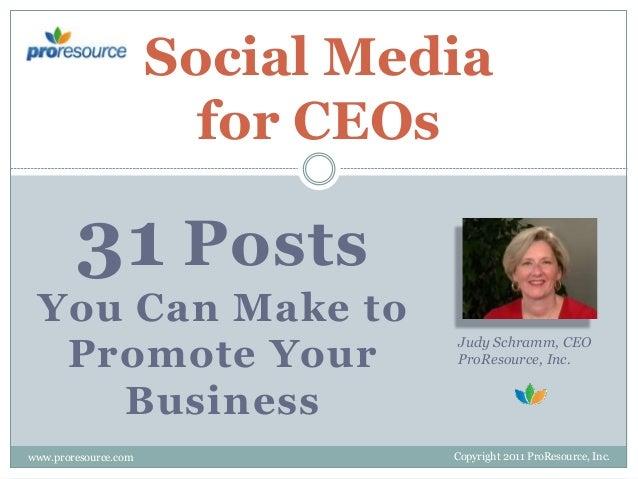 Social Media Tips for CEOs