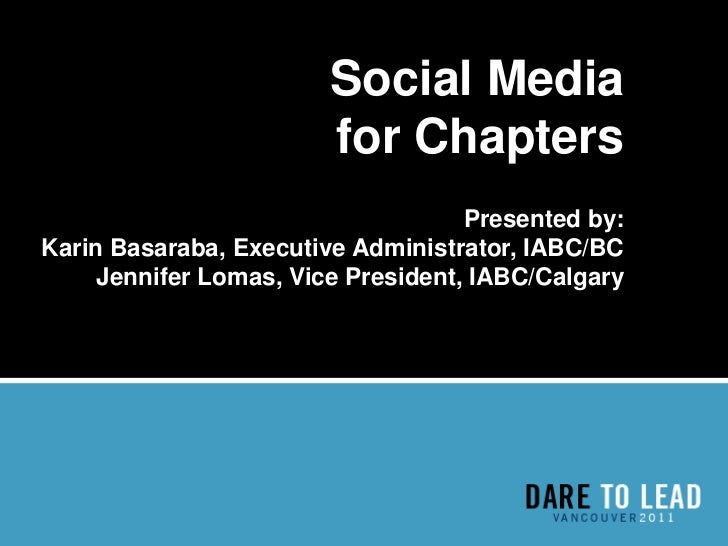 Social Media for IABC Chapters