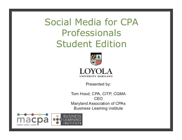 Social Media for CPA Professionals - Accounting Student Edition