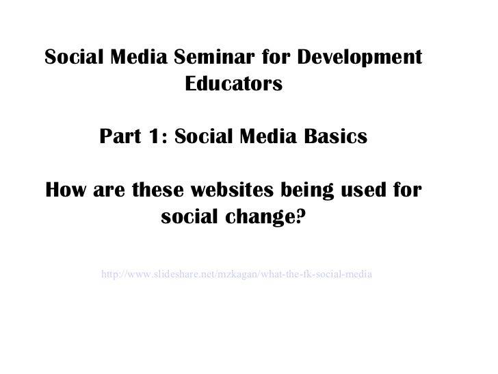 Social Media For Development Educators