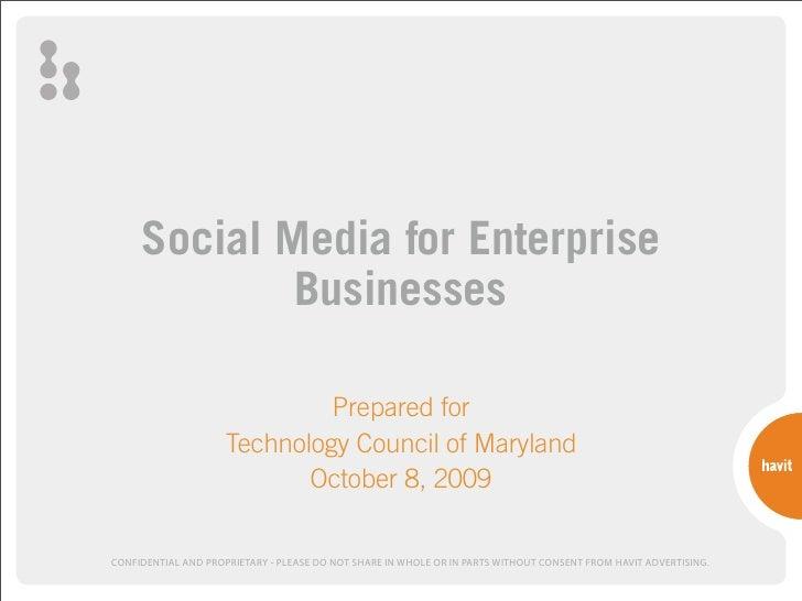 Social Media For Enterprise