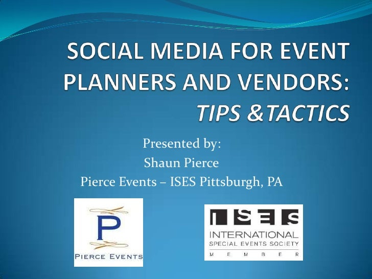 Social media for event planners