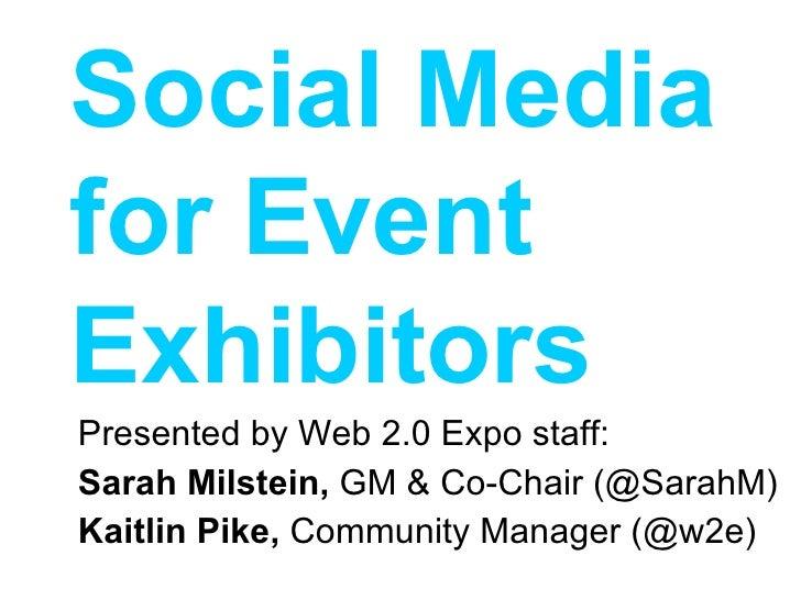 Effective Social Media For Event Exhibitors