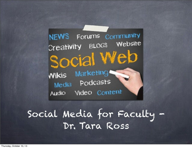 Social Media for Faculty   Beyond the Classroom