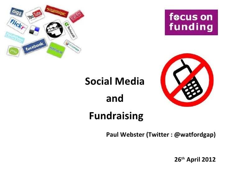 Social Media for Fundrasing