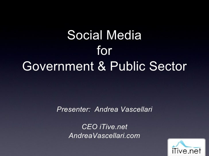 Social Media For Government & Public Sector