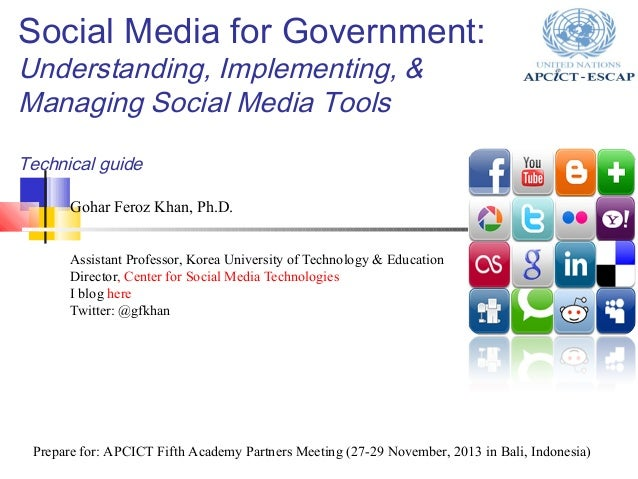 Social media for government