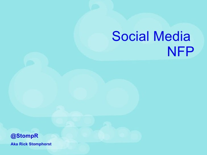 Social media for NFP, for HIEC.ON.CA