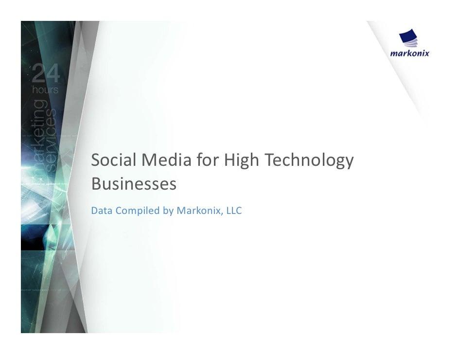 Social media for high technology