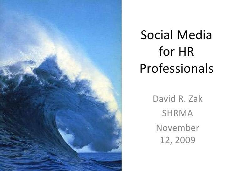 Social Media For HR Pros