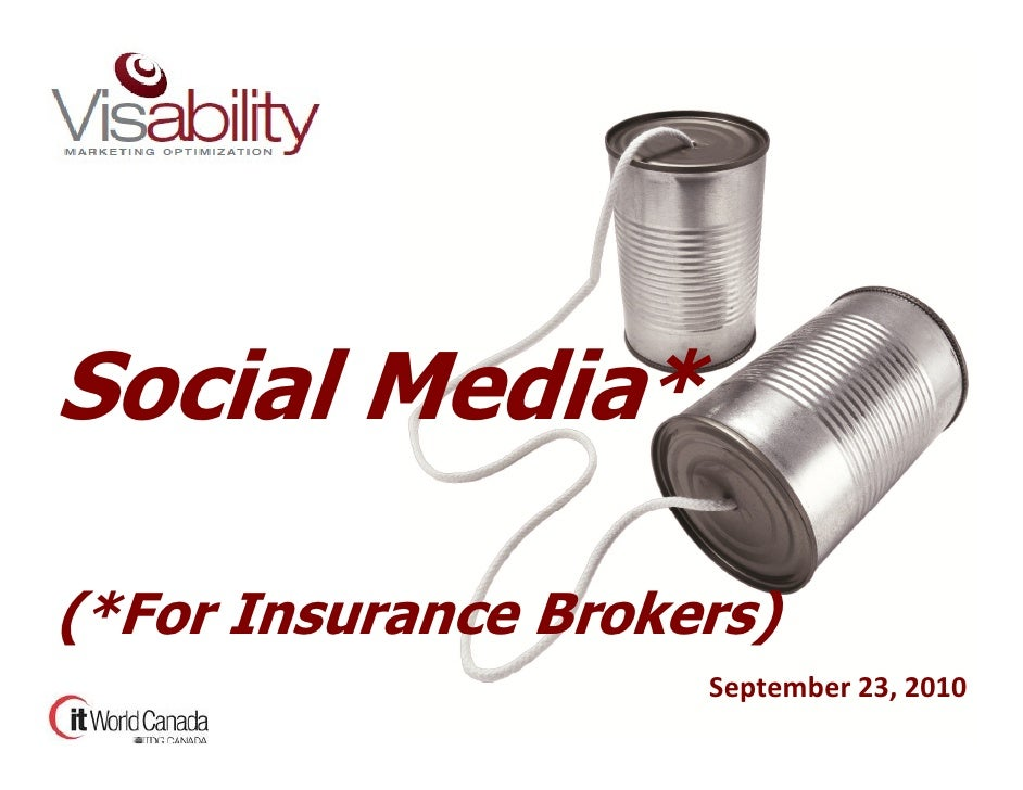 Social Media, for Insurance Brokerages