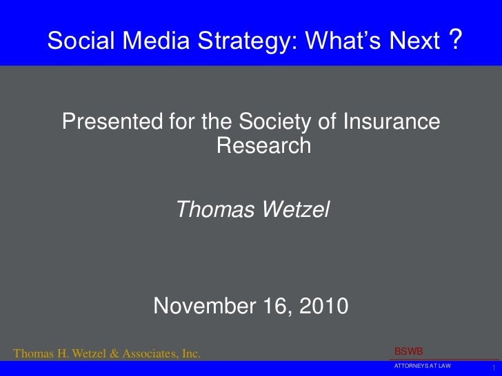 Social Media for Insurers - What's Next?