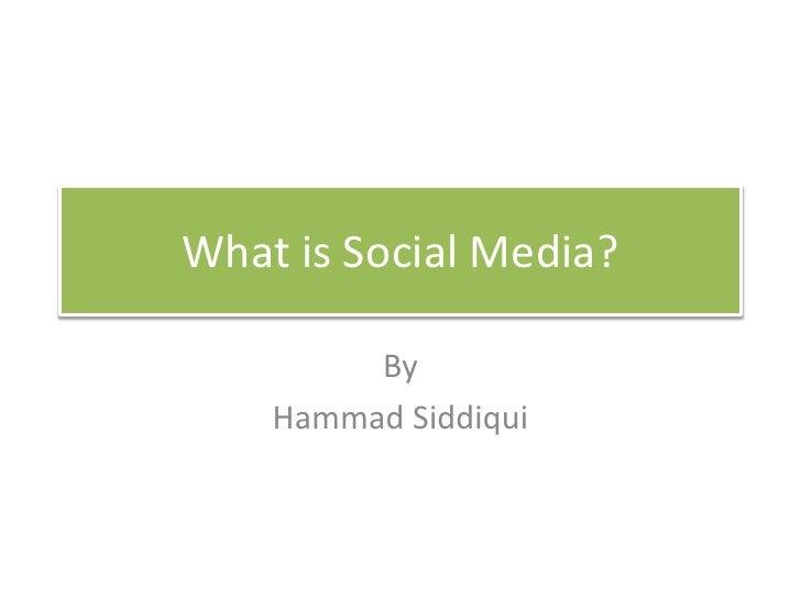 Socialmedia for journalists