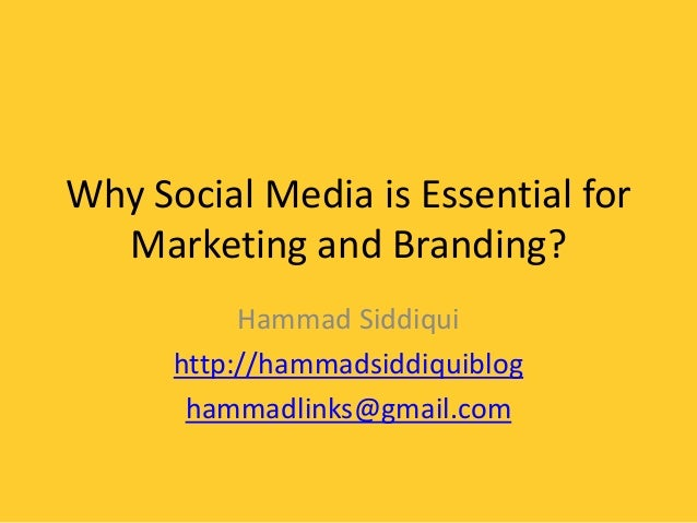 Social Media for Marketing and Branding
